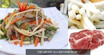 Cách làm món thịt lợn xào ngó sen