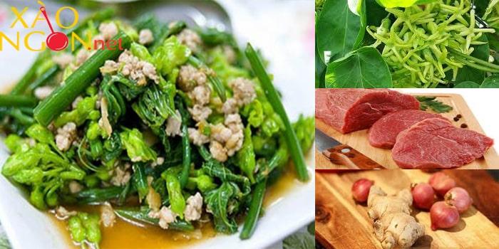 Món xào ngon mùa hè - Hoa thiên lí xào thịt bò