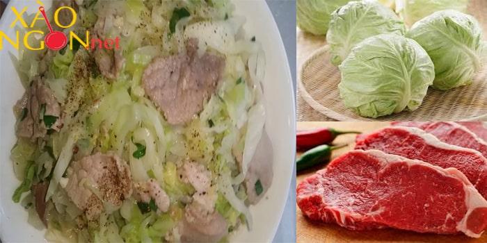 Món xào ngon mùa hè - Bắp cải xào bò