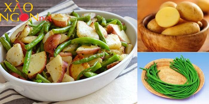 Món xào ngon mùa hè - Khoai tây xào đậu đũa