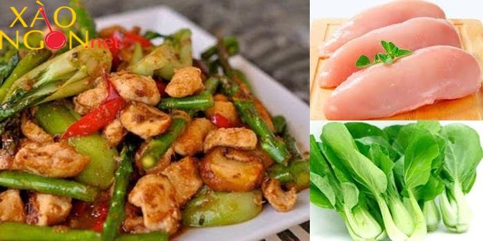 Món xào ngon ngày hè - Gà xào rau cải