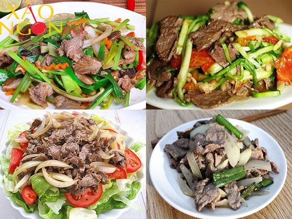 cách xào thịt bò với rau cần tây 1
