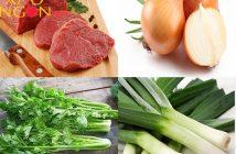 cách xào thịt bò với rau cần tây