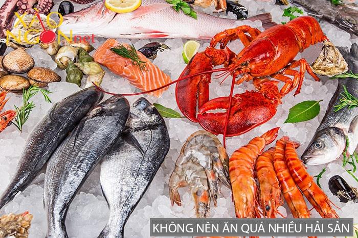 Những người bị một số bệnh viêm, gan, gout không nên ăn nhiều hải sản