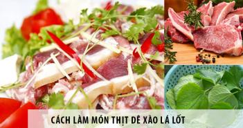 cách làm món thịt dê xào lá lốt