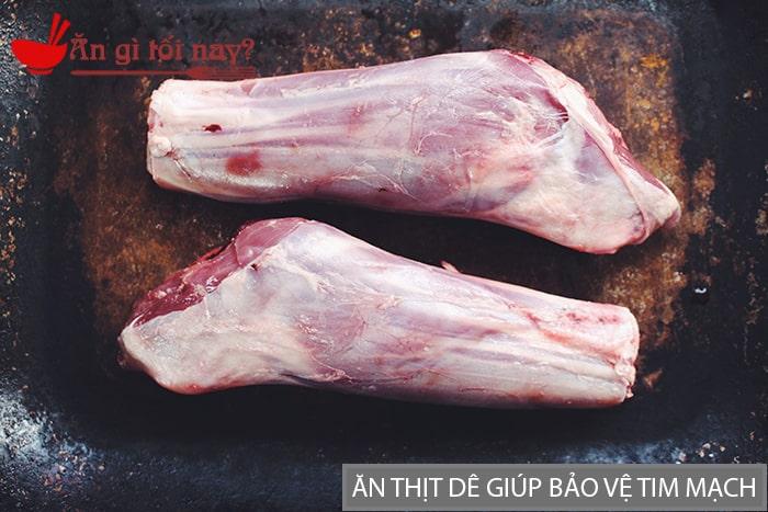 Thịt dê có tác dụng giảm bớt tình trạng viêm và ổn định nhịp tim