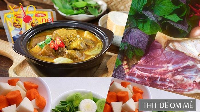 Thịt dê om mẻ Ninh Bình