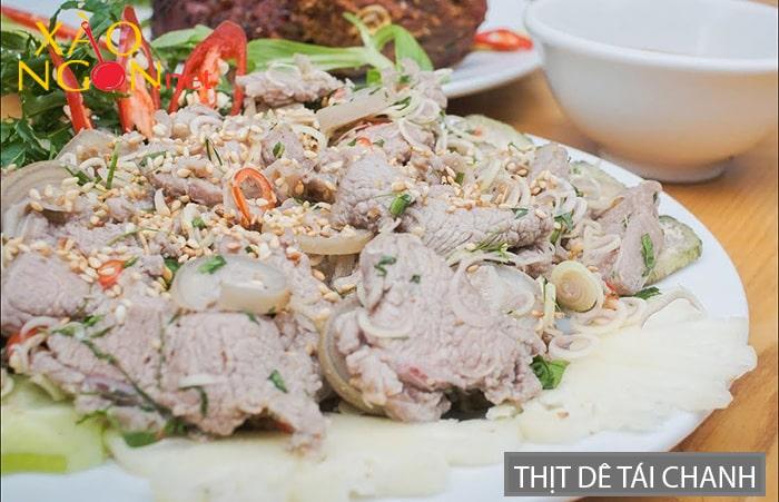 Thịt dê tái chanh nổi tiếng Ninh Bình