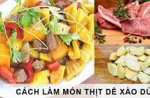 cách làm món thịt dê xào dứa