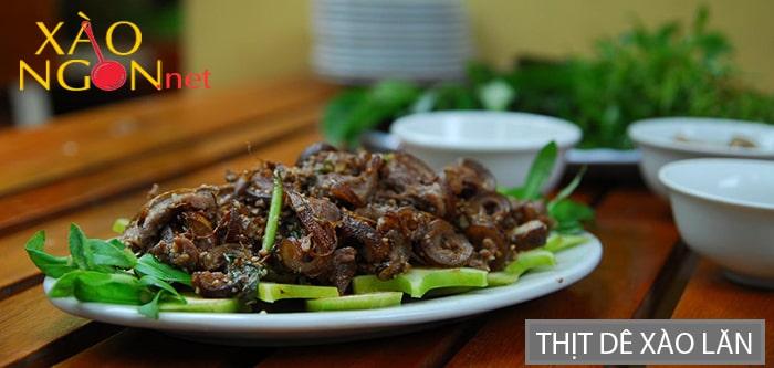 Thịt dê xào lăn Ninh Bình