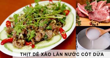 thịt dê xào lăn nước cốt dừa