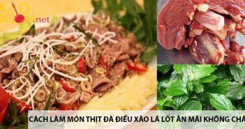 Cách làm món thịt đà điểu xào lá lốt ăn mãi không chán 5