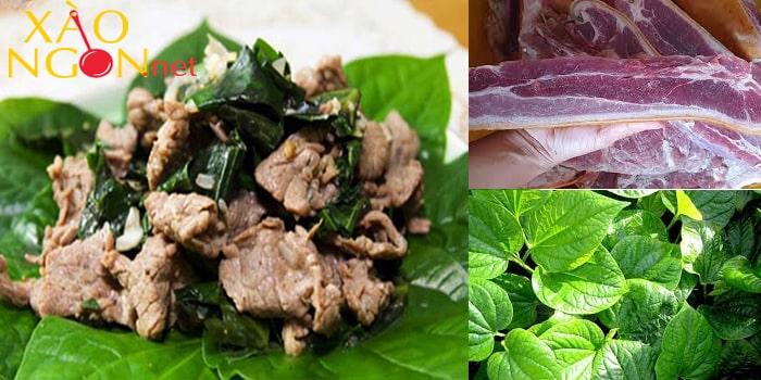 Cách làm thịt heo rừng xào lá lốt