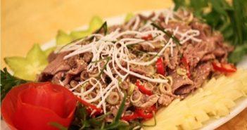 thịt đà điểu xào lá lốt