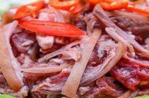 thịt dê xào riềng mẻ