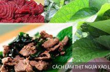 Cách chế biến món thịt ngựa xào lá nốt