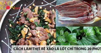 Cách làm thịt bê xào lá lốt thơm ngon chỉ trong 20 phút 4