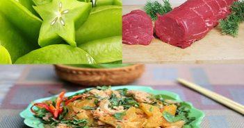 cách chế biến thịt trâu xào khế