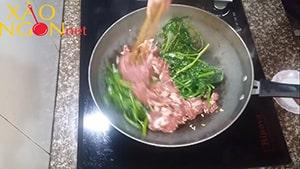 thịt trâu xào rau muống 8