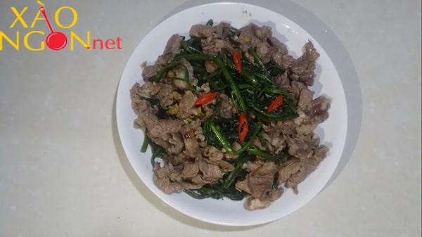 thịt trâu xào rau muống 9