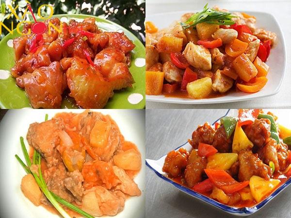 cách làm gà xào chua ngọt 1