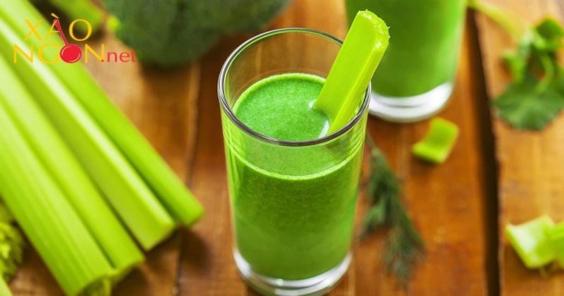 Nước ép rau cần tây uống khi nào?