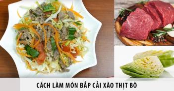 cách làm món bắp cải xào thịt bò