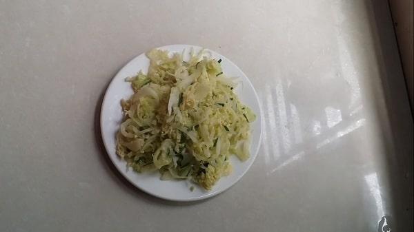 rau bắp cải xào tỏi