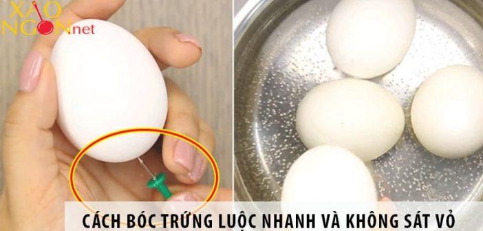 3 cách bóc trứng luộc nhanh và không sát vỏ