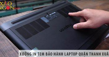 Xưởng in decal tem bảo hành laptop giá rẻ tại Quận Thanh Xuân